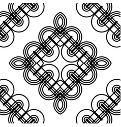 design seamless monochrome diamond pattern vector image