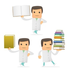 doctor with books vector image