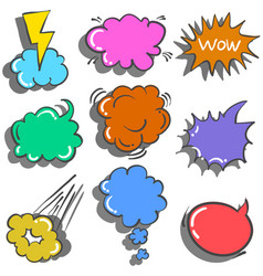 Doodle of text balloon style hand draw vector