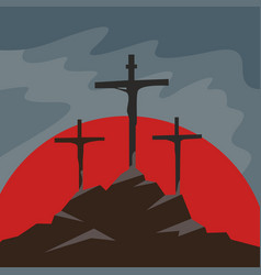Easter and crucifixion vector