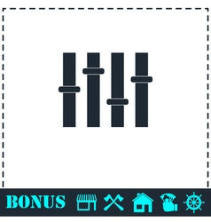 Equalizer icon flat vector