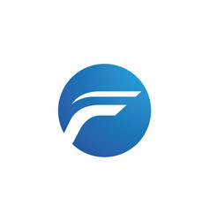 F letter faster logo template icon design vector