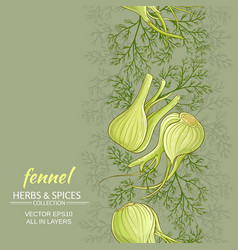 fennel background vector image