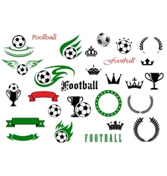 Football or soccer game symbols for sport design vector