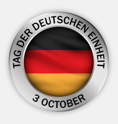 German unity day concept background realistic vector