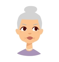 Granny face vector