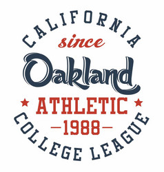 Graphic design oakland athletic for t-shirts vector