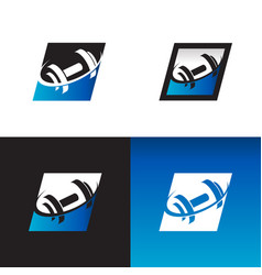 Gym fitness logo icons vector