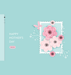 happy mothers day landing page template vector image