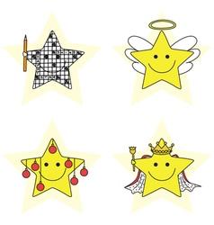 Happy stars vector