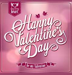 happy valentines day backgroun vector image