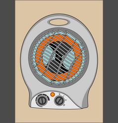 Heater of air vector