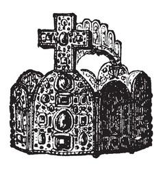 Imperial crown vintage engraving vector