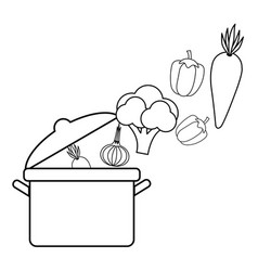 isolated vegetables design vector image