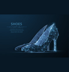 isolated woman shoe elegance glamour vector image