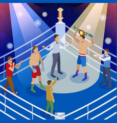 isometric box competition composition vector image