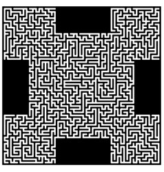 Isometric maze labyrinth solution concept vector
