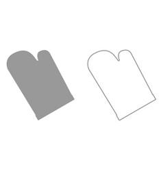 Kitchen glove it is black icon vector