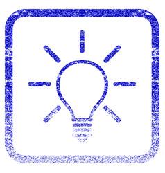 Light bulb framed textured icon vector