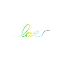 Love ink hand drawn lettering modern dry brush vector