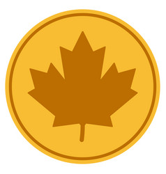 Maple leaf coin vector