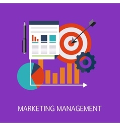 Marketing Management Concept Art vector image