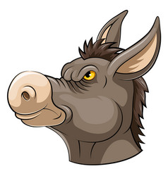 Mascot head an donkey vector