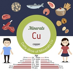 Minerals Cu infographic vector