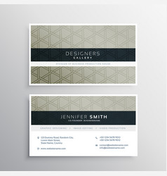 Modern business card design for your company vector