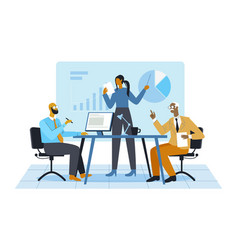 office meeting concept vector image