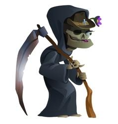 Old female skeleton the grim Reaper vector image