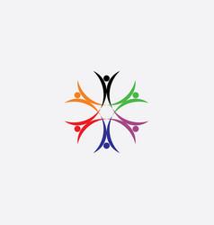 people icon team men symbol logo vector image