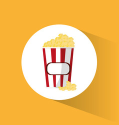 pop corn box movie cinema vector image
