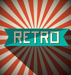 Retro Title on Vintage Background vector image