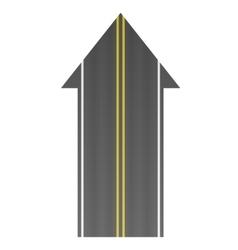 Road arrow vector