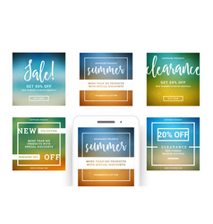 sale banners templates design with place for photo vector image