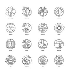 Science and technology line icons set vector