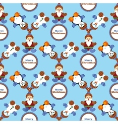 Seamless pattern with Christmas decorations vector