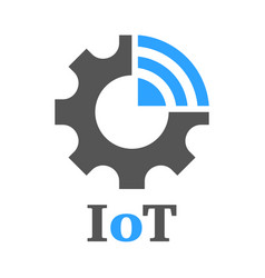 simple icon to represent the internet of things vector image
