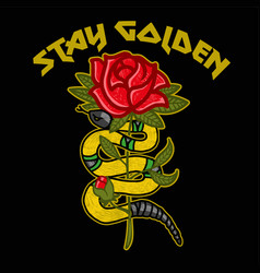 stay golden vector image