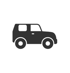 suv car glyph icon or vehicle concept vector image