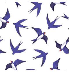 Swallow bird pattern vector