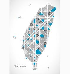 Taiwan map crystal style artwork vector