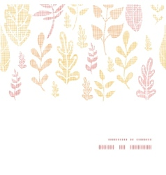 Textile textured fall leaves horizontal frame vector