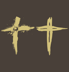 The grunge crosses vector