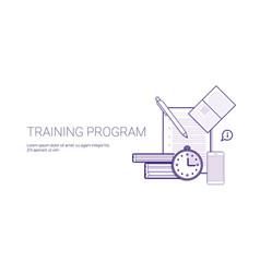 Training program education business concept vector