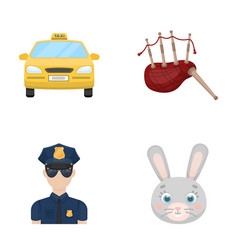 transport security and other web icon in cartoon vector image
