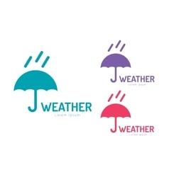 umbrella colored logo vector image