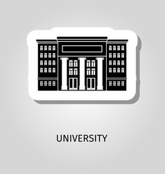 University black building sticker vector