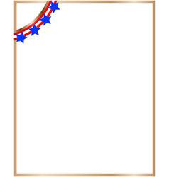 usa flag symbols decorative corner border vector image